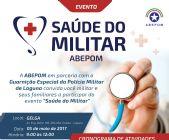 ABEPOM realiza Saúde do Militar em Laguna