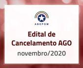 Edital de Cancelamento AGO - novembro/2020