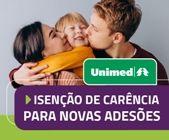 UNIMED: Isenção de carência para novas adesões até 20/01/2021