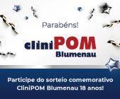 Aniversário CliniPOM Blumenau - Participe do sorteio!